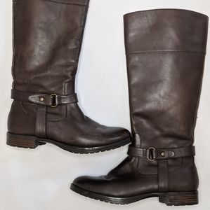 Ralph Lauren brown leather boots size 6.5